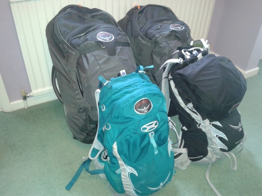 Bags packed - wonder what we have left!