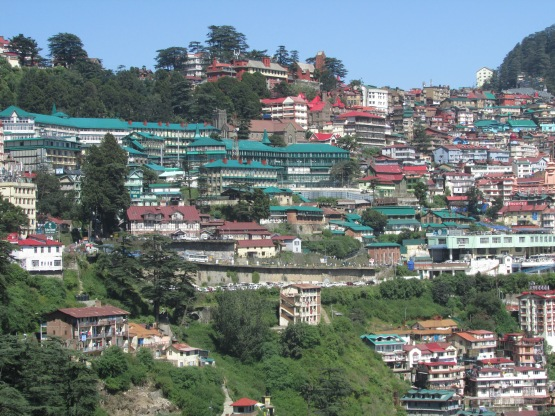 Hanging from the mountainside - Shimla the home of the British Raj @7,500ft