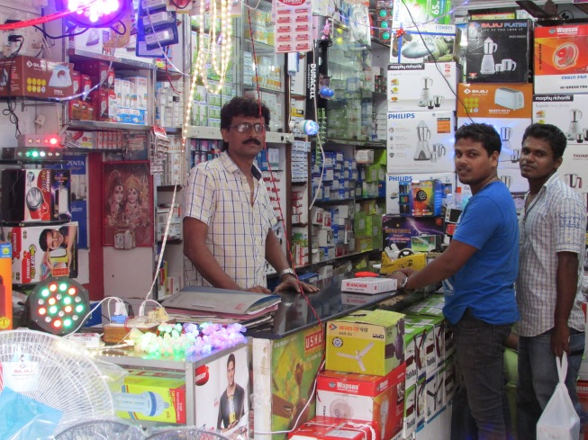 Mr Kumar and helpers