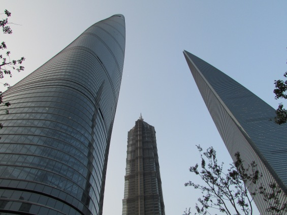 The second tallest building (left) due to be complete in two months and the third - on the right which we scaled