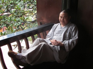 Monk down time…. Chilling outside of our bedroom window