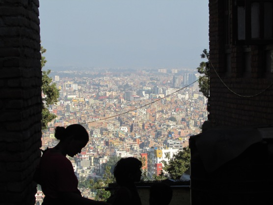 View over Kathmandu from Monkey Temple