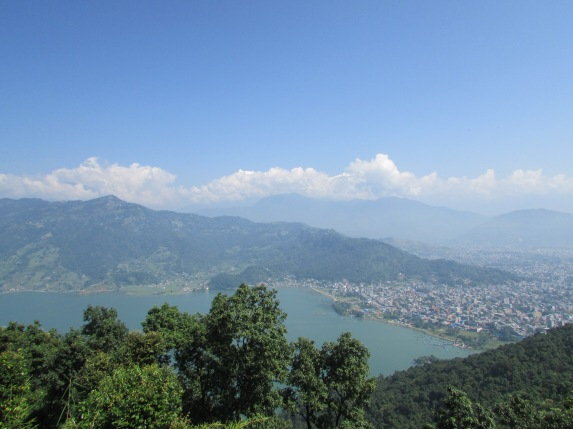 Lake Pokhara from on high