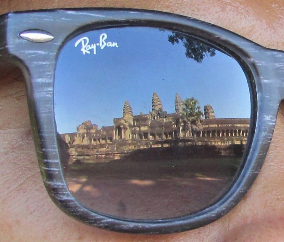 MB in reflective mood - Angkor Wat