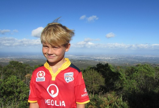 Me in my Adelaide soccer top