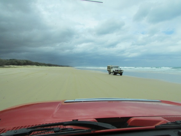 On the 75 Mile Beach highway. We saw a Cop pull over a 4WD - the speed limit is 80kph and full Highway laws are enforced.