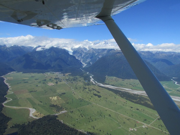 Our little plane had to do a few circles to climb to the safe height of 10,000ft - stunning valley views below
