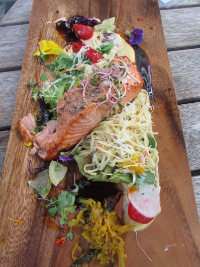 Sarah's salmon - a super lunch at Allan Scott's