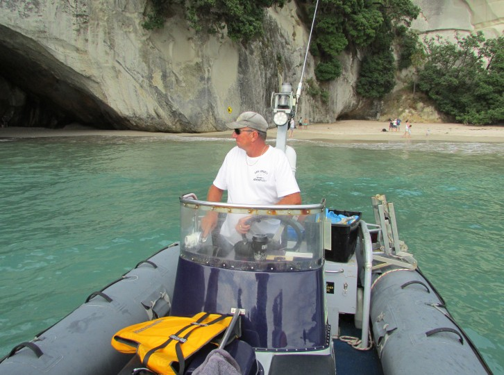The God that is Steve at Cathedral Cove.