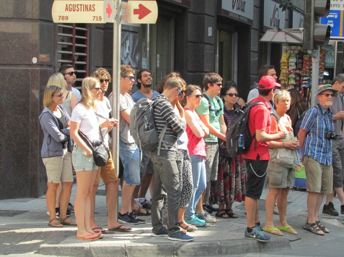 Franco's followers, Mrs B at the back