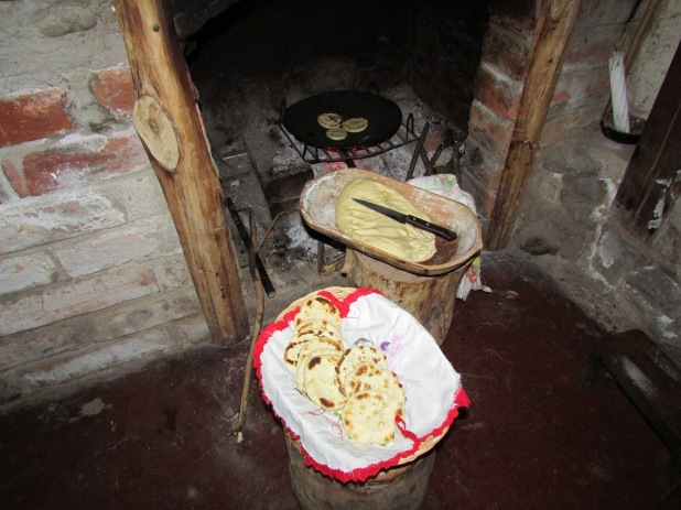 Lovely bread cakes - made in the open fire