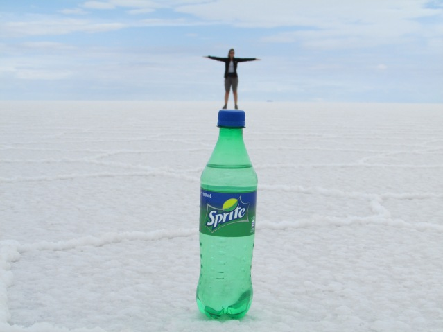 Sarah liked dancing on a bottle of sprite
